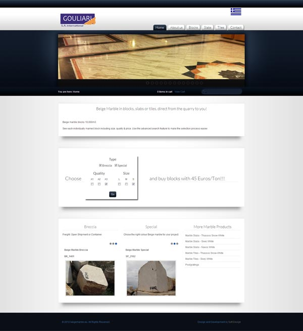 Create Website beigemarble.eu